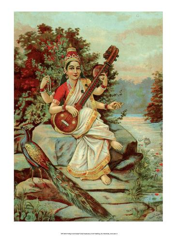 Vintage Indian Bazaar, Sarasvati Stampa artistica