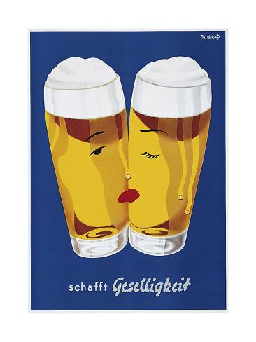 Beer Creates Sociability Giclée-vedos