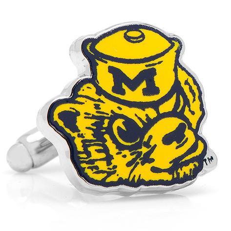 Vintage Michigan Wolverines Cufflinks Novelty