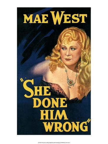 Vintage Movie Poster - Mae West in She Done Him Wrong Art Print