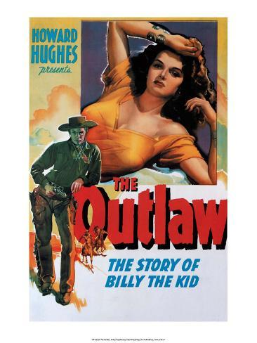 Vintage Movie Poster - The Outlaw Impressão artística