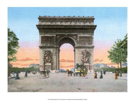 vintage paris postcard l 39 hotel de ville posters at. Black Bedroom Furniture Sets. Home Design Ideas