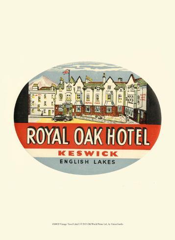 Vintage Travel Label I Art Print