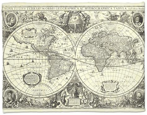 Vintage world map fleece blanket at allposters vintage world map gumiabroncs Images