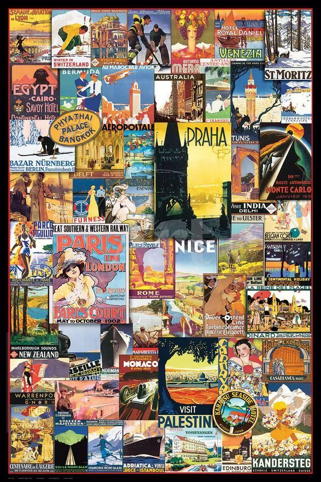 Vintage World Travel Ads Collage Posters Allposters Com