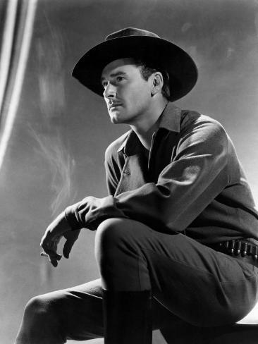 Virginia City, Errol Flynn, 1940 Photo