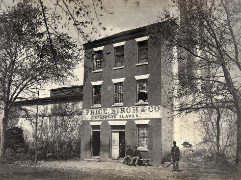 Virginia: Slave Dealer Stretched Canvas Print