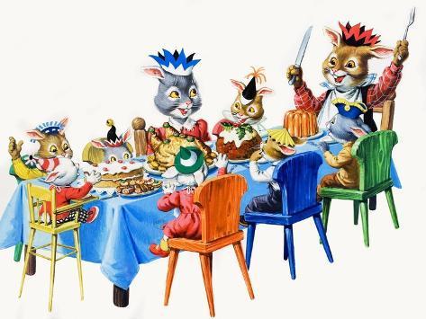 Brer Rabbit's Christmas Meal Giclee Print