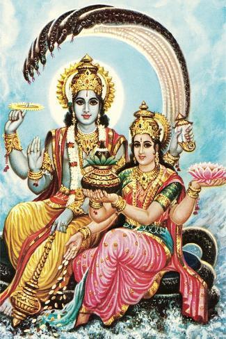 Vishnu and Lakshmi Lámina
