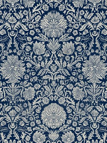 Baroque Tapestry in Navy II Premium Giclee Print