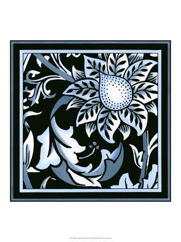 Blue and White Floral Motif II Art Print