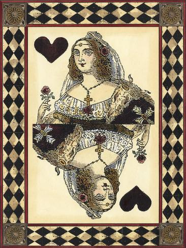 Harlequin Cards IV Art Print