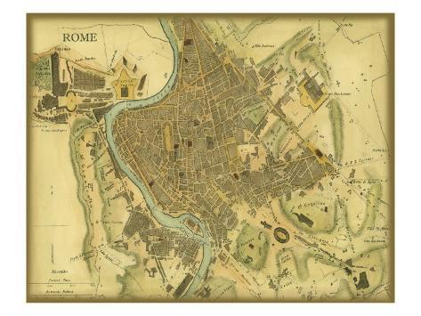 Map of Rome Art Print
