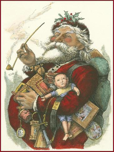 Merry Santa Art Print