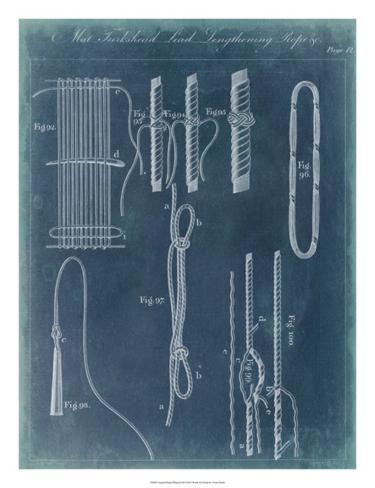 Nautical Detail Blueprint III Giclee Print