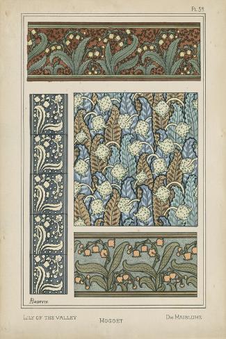 Nouveau Floral Design IV Stampa artistica