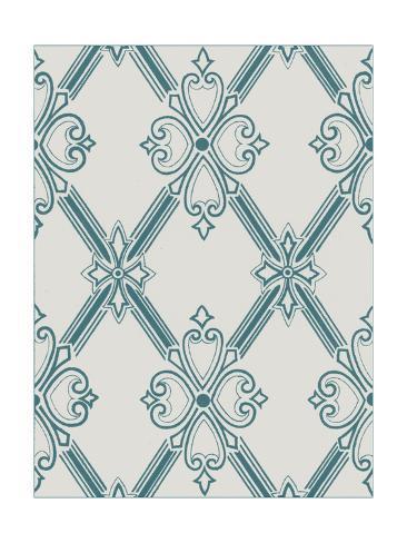 Ornamental Pattern in Teal II Art Print