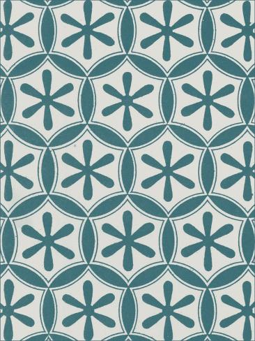 Ornamental Pattern in Teal III Art Print