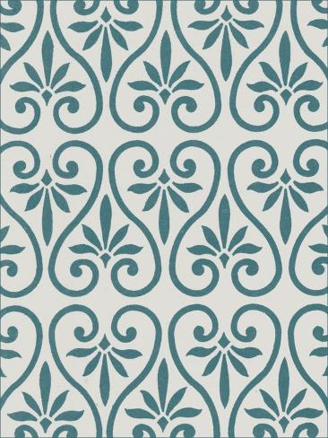 Ornamental Pattern in Teal IX Art Print