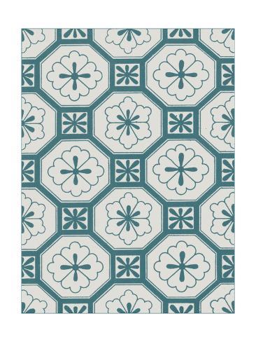 Ornamental Pattern in Teal VI Premium Giclee Print