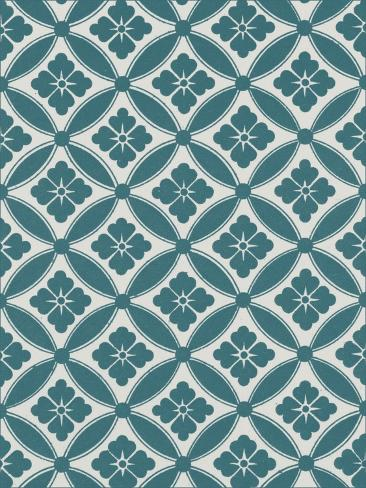 Ornamental Pattern in Teal VII Art Print
