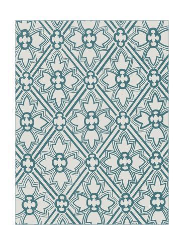 Ornamental Pattern in Teal VIII Art Print