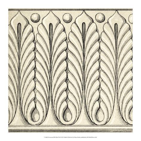 Ornamental Tile Motif IX Giclee Print