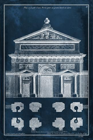 Palace Facade Blueprint I Art Print