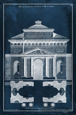 Palace Facade Blueprint II Art Print