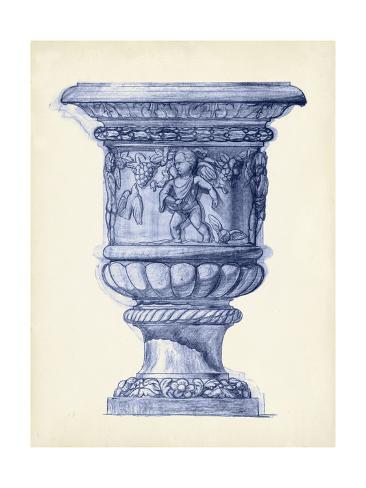 Palace Urns in Indigo III Art Print