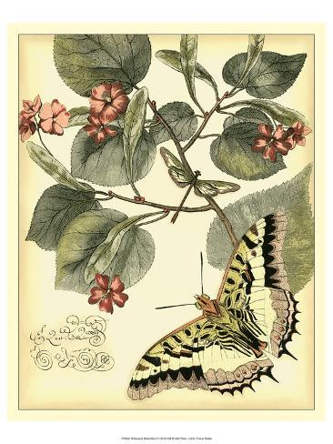 Whimsical Butterflies I Art Print
