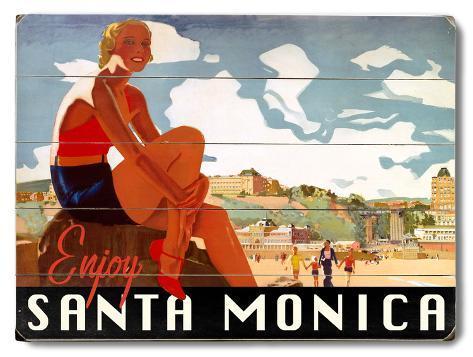 Visit Santa Monica Wood Sign