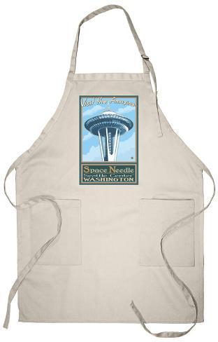 Visit the Space Needle, Seattle, Washington Apron Apron