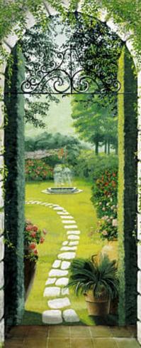 Vista dal Porticato Garden Doorway Door Poster Wallpaper Mural