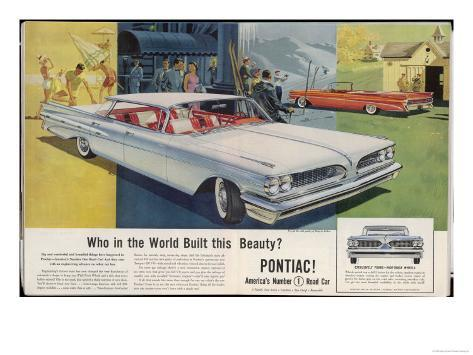 Vista-Lounge Interiors with Seats Wider Than a Sofa, in the New Wide-Track Pontiac Giclee Print