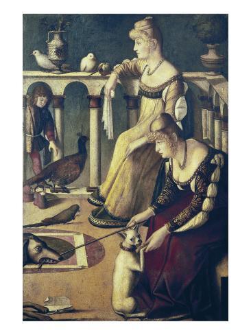 Two Venetian Ladies Art Print