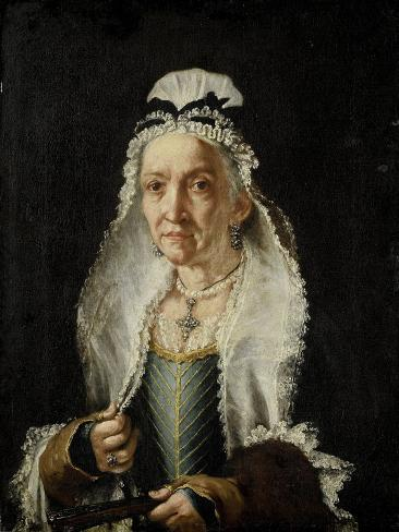 Portrait of an Old Lady Art Print