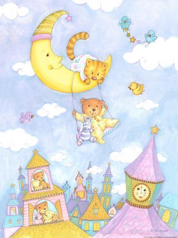 Moon Swing Art Print