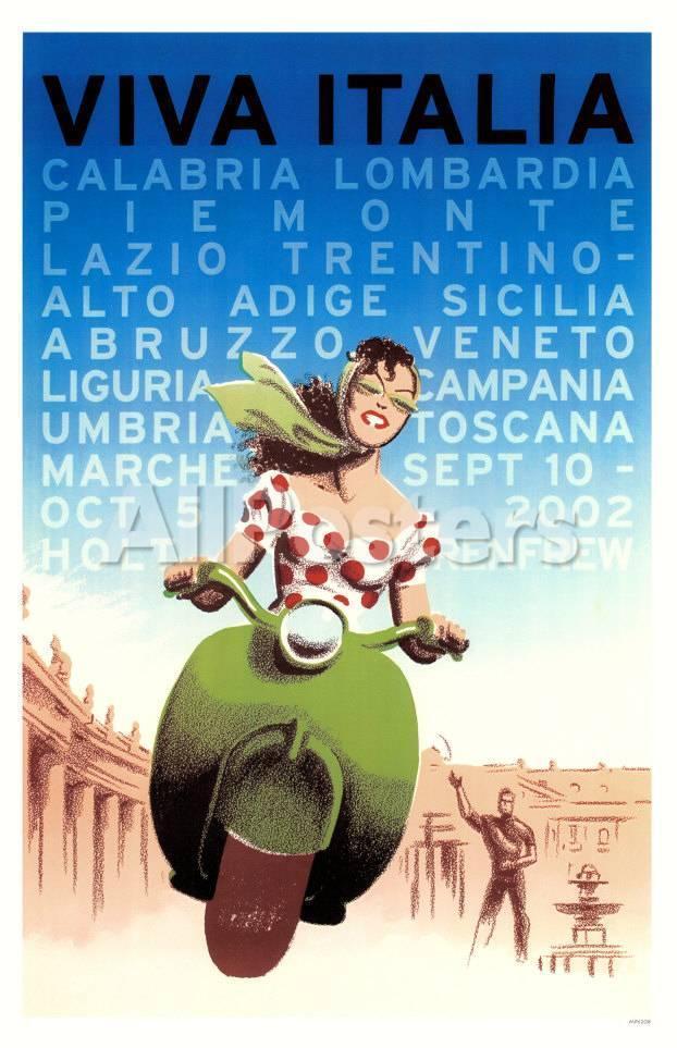Viva Italia' Masterprint | AllPosters.com