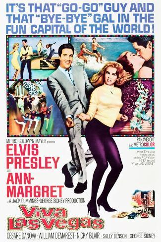Viva Las Vegas, Elvis Presley, Ann-Margret, 1964 Stampa artistica