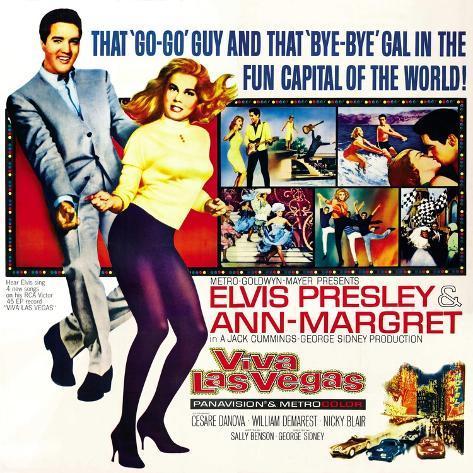 Viva Las Vegas, Elvis Presley, Ann-Margret, 1964 アートプリント