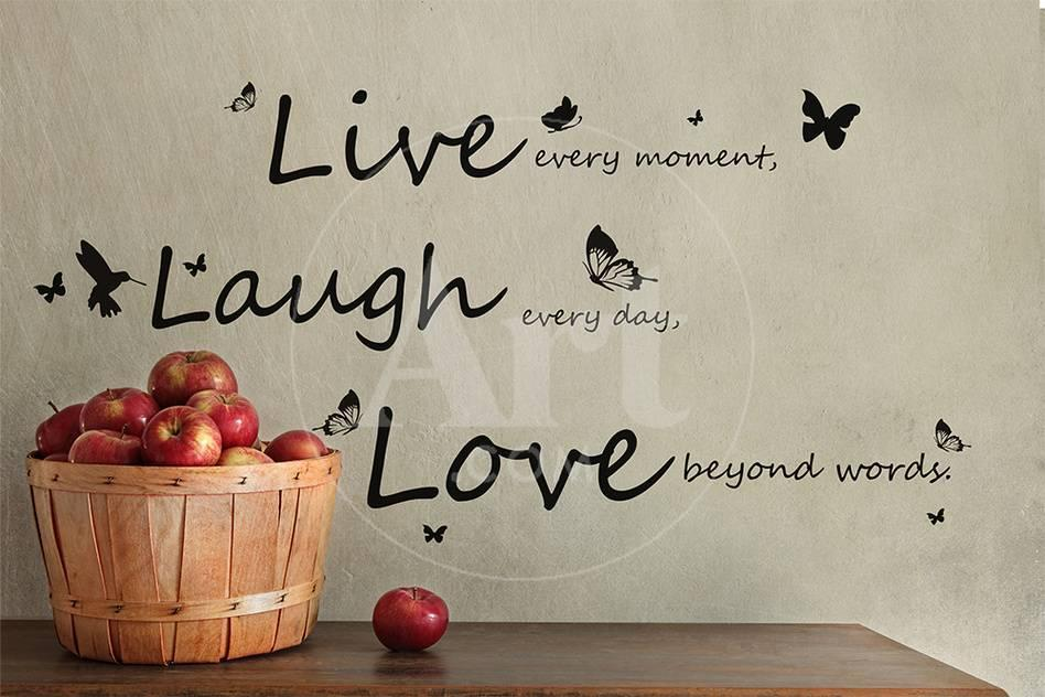 Vivid Live Laugh Love Quote
