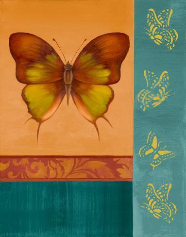Colorful Wings I Art Print