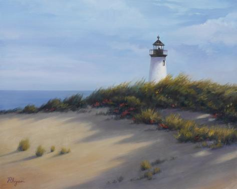 Lighthouse on the Shore Art Print