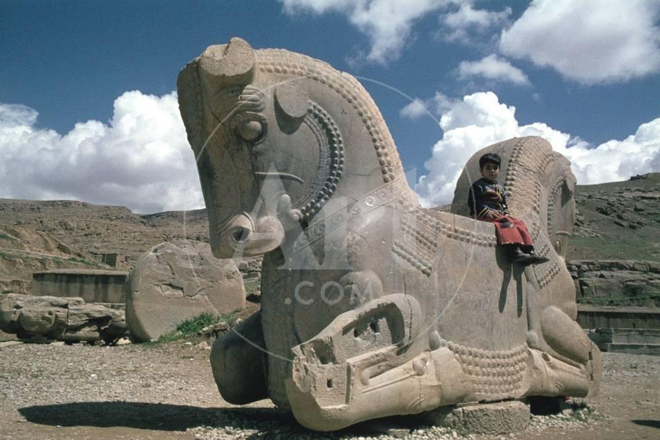 Protome Of A Double Horse The Apadana Persepolis Iran Photographic Print Vivienne Sharp Allposters Com