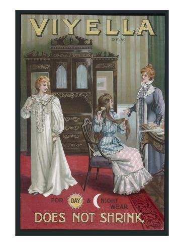 Viyella Nightwear 1890s Impressão giclée