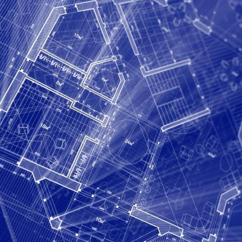 Blueprint architecture house plan background poster by vladimir blueprint architecture house plan background malvernweather Image collections