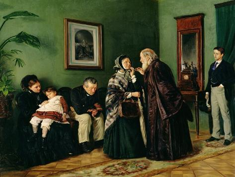 The Doctor's Waiting Room, 1870 Giclee Print