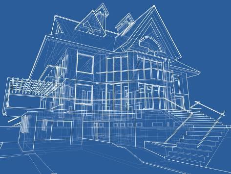 House blueprint technical draw psters por vladimir en allposters house blueprint technical draw lmina malvernweather Gallery