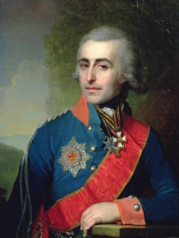 Portrait of General Aide-De-Camp Count Pyotr Tolstoy (1761-1844) 1799 Giclee Print